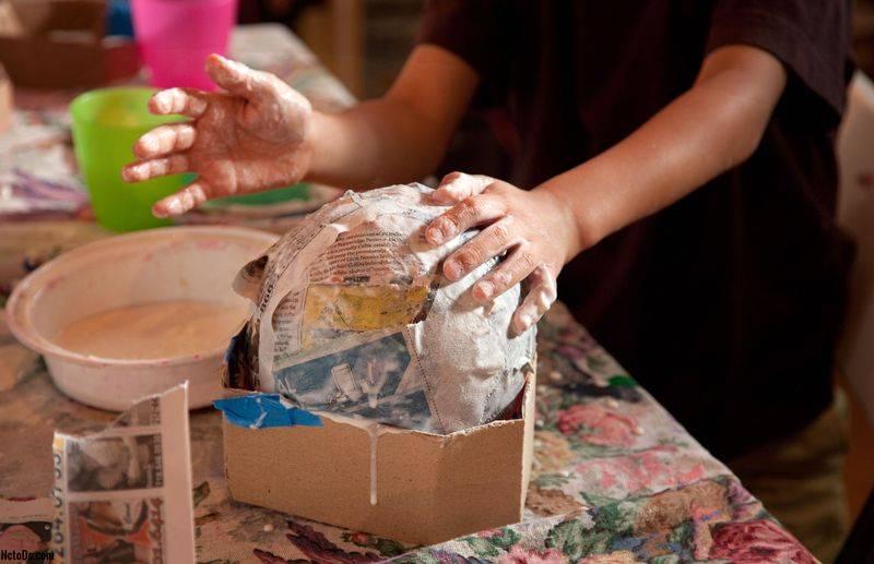 Поделки папье-маше (68 фото) - пошаговые мастер-классы по изготовлению поделок