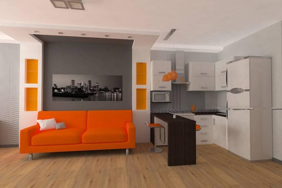 Дизайн квартиры-студии — (150 фото)