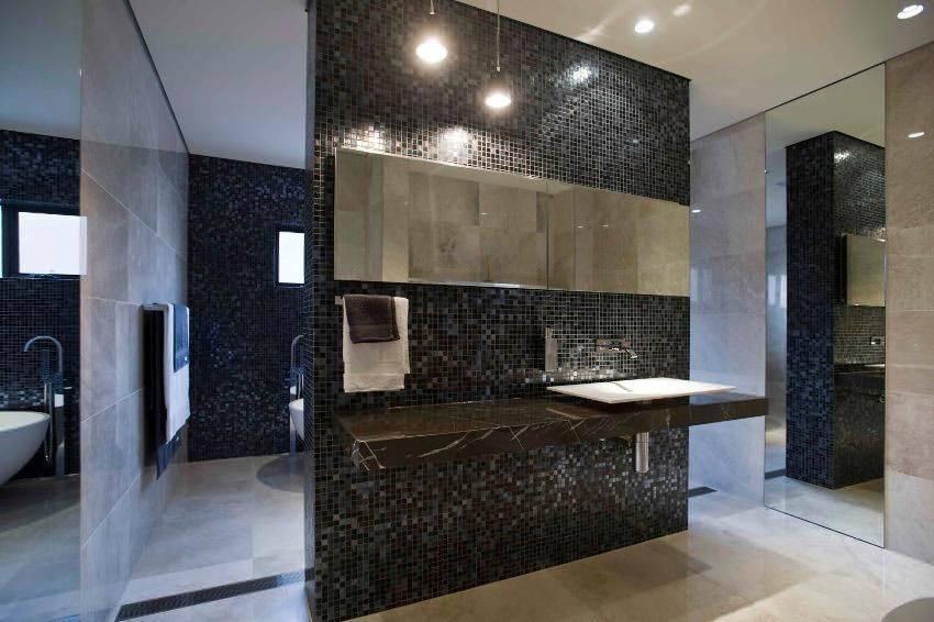 Белая мозаика в ванной: примеры, решения, дизайн