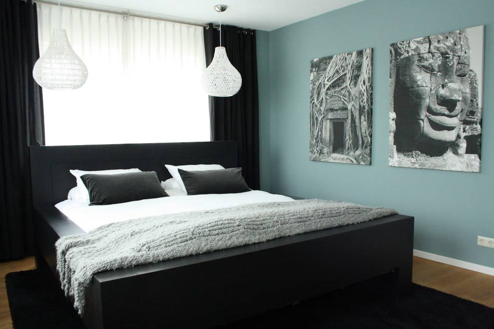 Спальня в светлых тонах — фото идеи необычного сочетания цветов и оттенков в дизайне интерьера