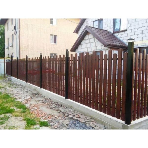 Забор из металлического штакетника – характеристики и правила установки забора из металлического штакетника своими руками