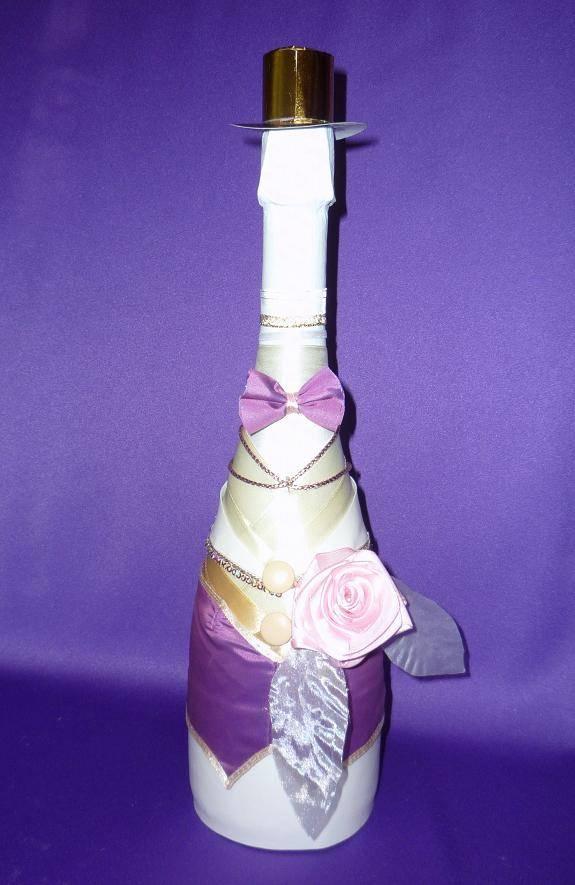 Декор бутылок пошагово: мастер-класс по украшению джутом, кружевом, шпагатом. 145 фото лучших идей и красивых вариантов