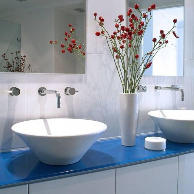 Встроенные раковины в ванной