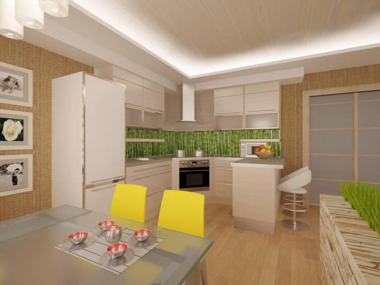 Проект кухни с расстановкой мебели (65 фото): как правильно расставить