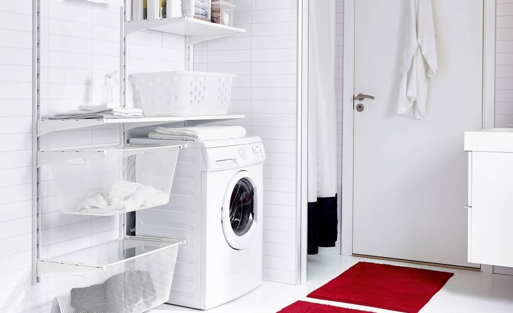Каким должен быть шкаф для стиральной машины в ванной