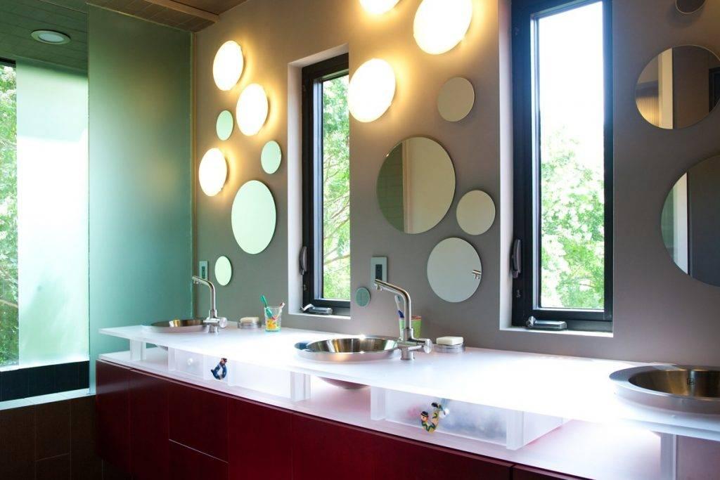 Организация освещения в ванной комнате