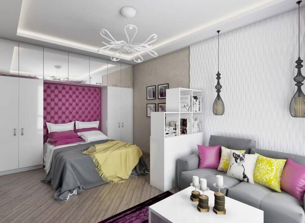 Гостиная и спальня в одной комнате: 100 фото идей - дизайн интерьера