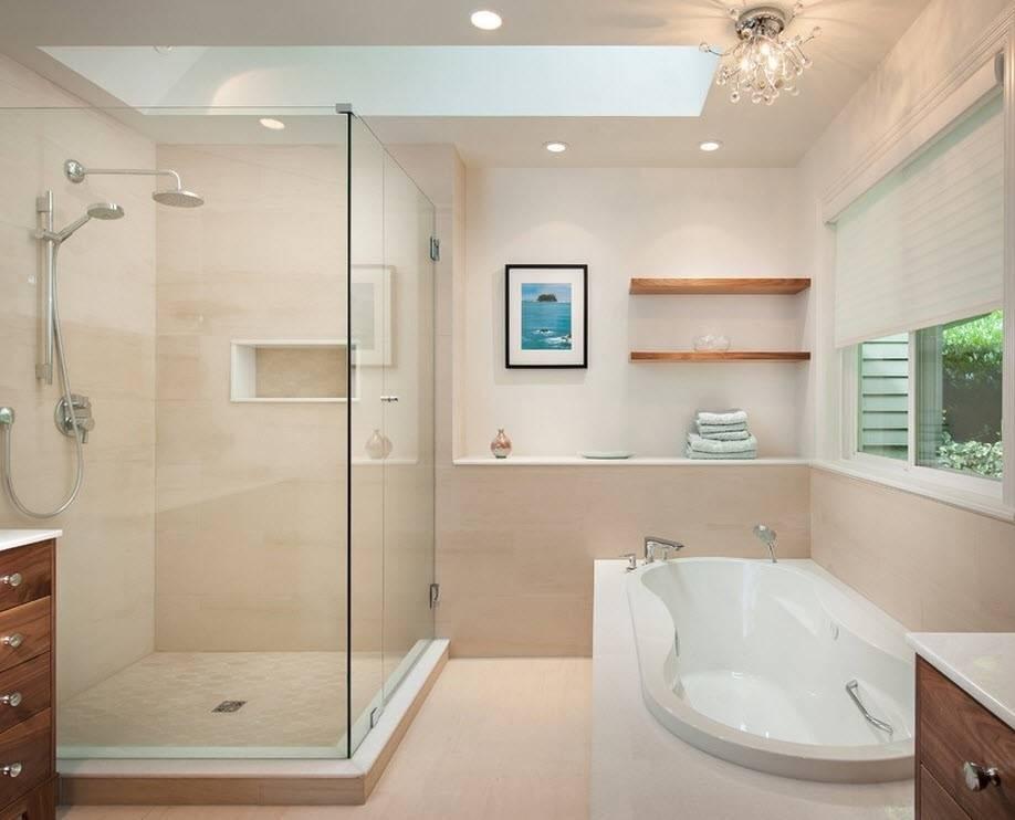 На что обращать внимание при выборе душевой кабины? форма, размер и тип кабины в 2021 году   дизайн и интерьер ванной комнаты