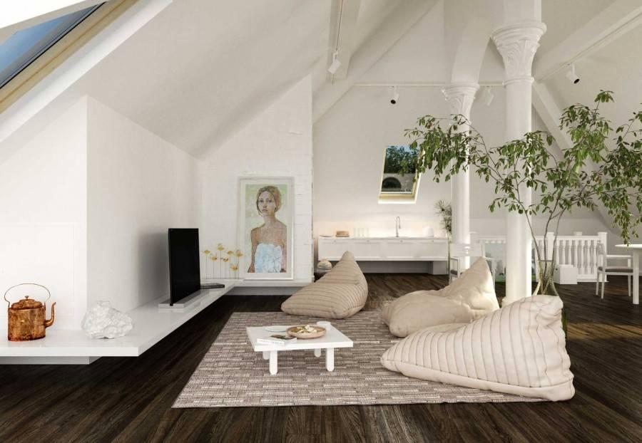 Дизайн мансардного этажа 47 фото идей оформления интерьера, красивые проекты