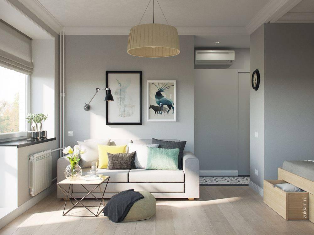 Современный дизайн однокомнатной квартиры площадью 30 кв. м