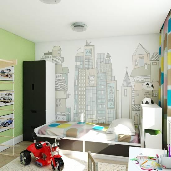 Обои для комнаты мальчика-подростка - от 12 до 15лет, фото и дизайн