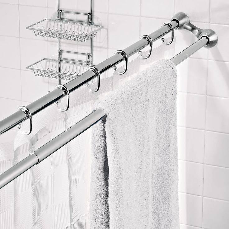 Карнизы для ванной: разновидности и выбор