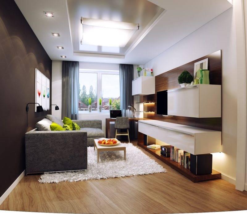 Дизайн гостиной 17 кв. м