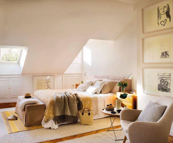 Дизайн мансардного этажа: интересные варианты оформления интерьера + фото