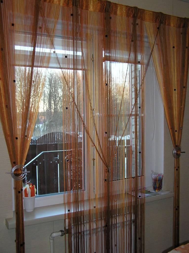 Нитяные шторы в интерьере: критерии выбора и красивый дизайн