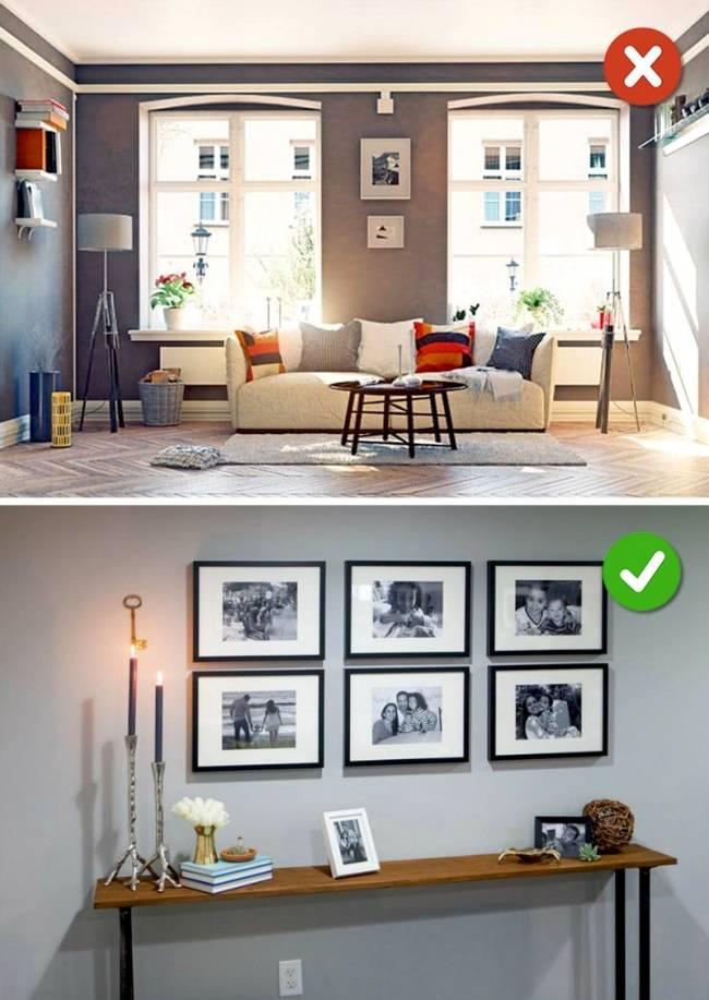 15 ошибок в дизайне интерьера, которые нельзя допускать | дом мечты