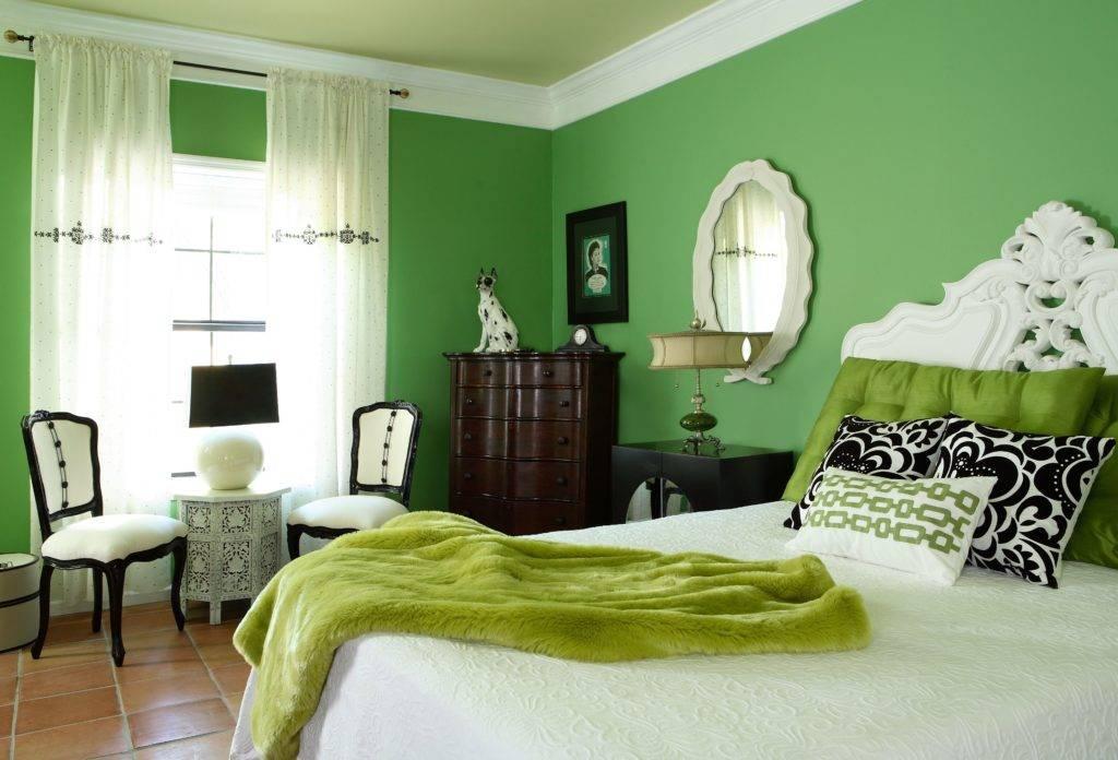 Зеленая спальня: примеры лучших сочетаний цветов в дизайне интерьера (обзор фото-идей)