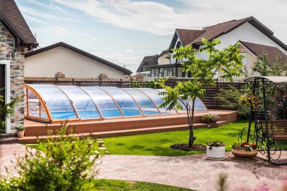 Красивый дизайн дворов частного дома: 160+ (фото) оформления