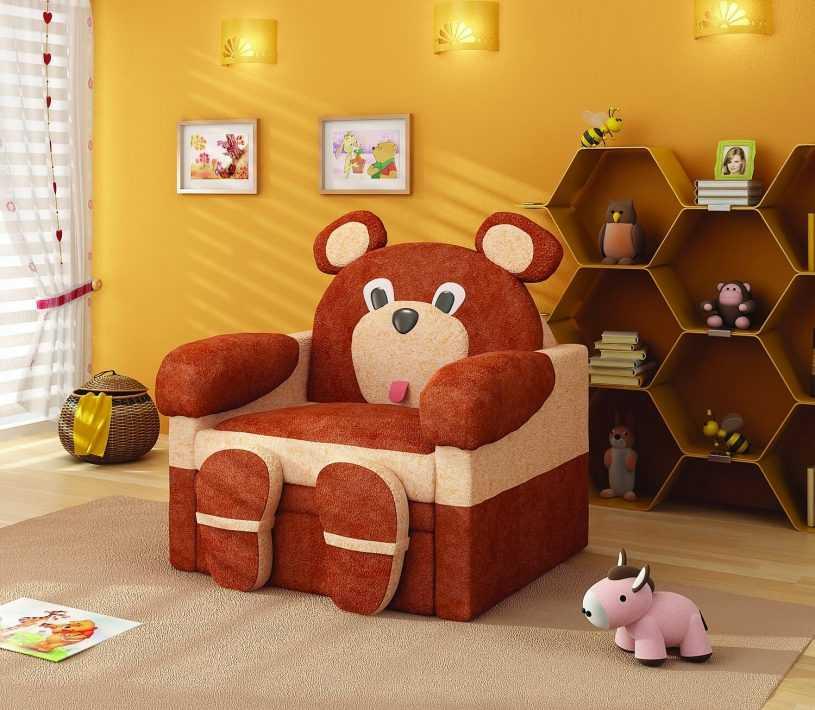 Варианты выбора дизайна и вида мягкого кресла для детской комнаты