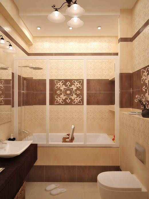 Коричневый цвет в ванной комнате