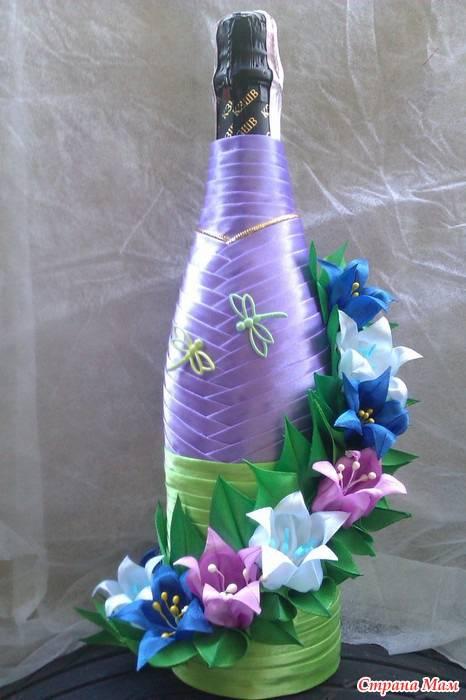 Декор бутылок — варианты оформления и правила декора для использования в дизайне интерьера (95 фото и видео)