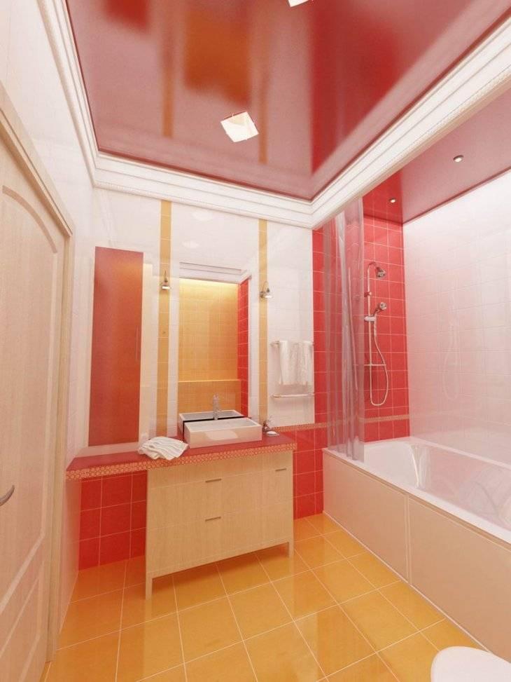 Натяжной потолок в ванной комнате – плюсы и минусы