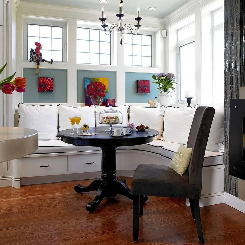 Дизайн кухни с диваном: фото идеи функционального применения