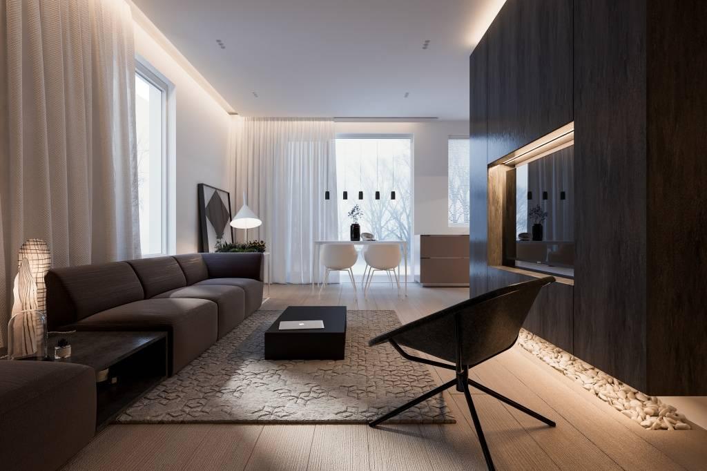 Гостиная в стиле минимализм (88 фото): дизайн интерьера зала в обычной квартире в современном минималистическом стиле, оформление гостиной в «хрущевке»
