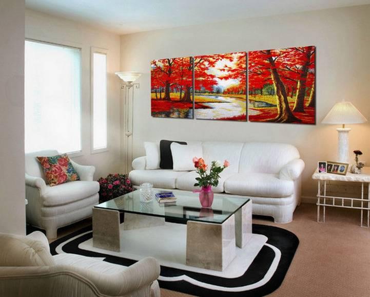 Модульные картины в интерьере, какие бывают, правила выбора и способы размещения в разных комнатах - 26 фото