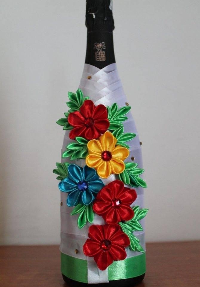 Декор бутылок шпагатом своими руками — инструкция и 54 фото