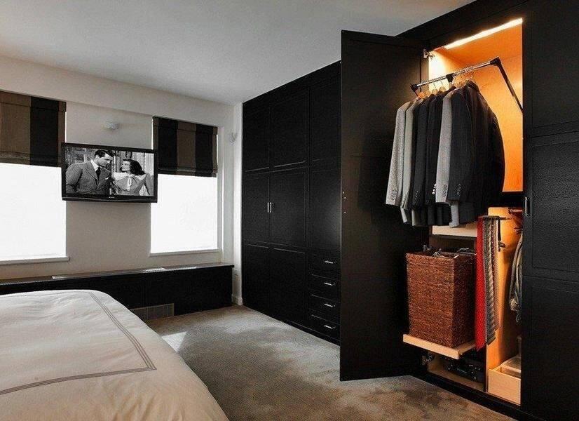 Встраиваемый шкаф в спальню (100 фото) - лучшие идеи планировки и дизайна