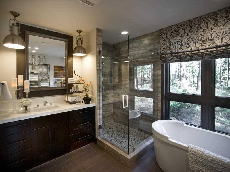 Ванная с окном: правила и реальные фотографии удачных интерьерных решений (65 фото)