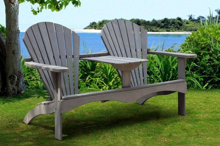 Примеры необычных скамеек из дерева, фанеры или металла для дачи