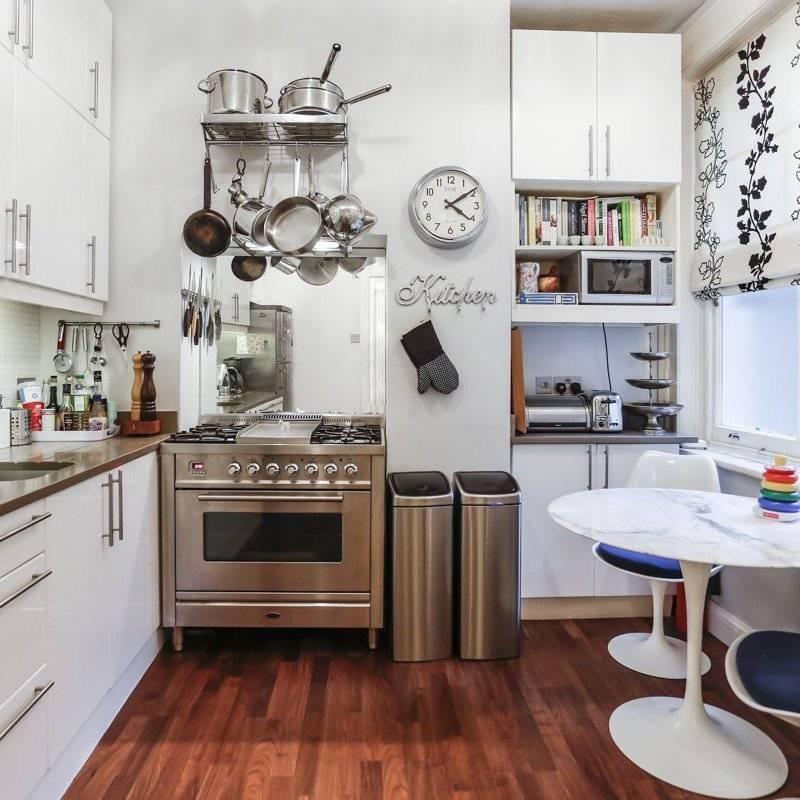 Малогабаритные кухни, основные приемы дизайна маленького пространства, как выбрать планировку и стиль - 39 фото