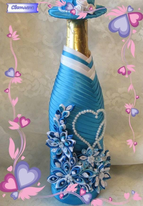 Декор бутылок шпагатом своими руками - инструкция и 54 фото