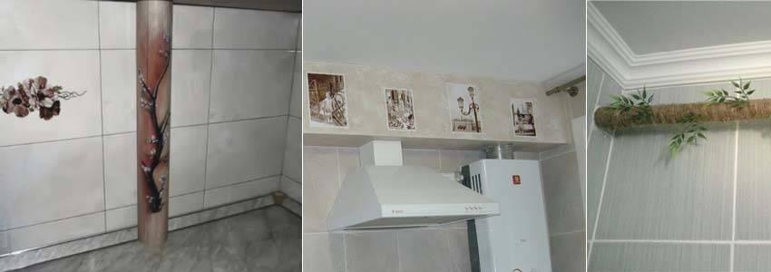 Газовая труба на кухне: естественный атрибут коммуникации, 47 фото, как замаскировать