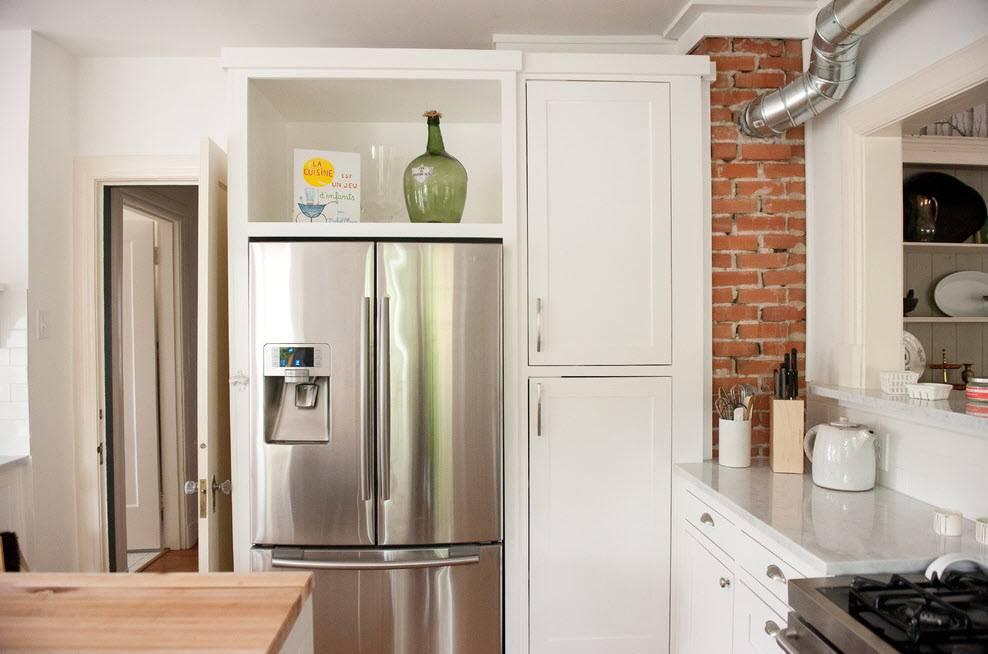 Дизайн кухни 6 кв. м с холодильником (75 фото): интерьер кухни 6 квадратных метров с холодильником, проекты планировок кухни 6 квадратов