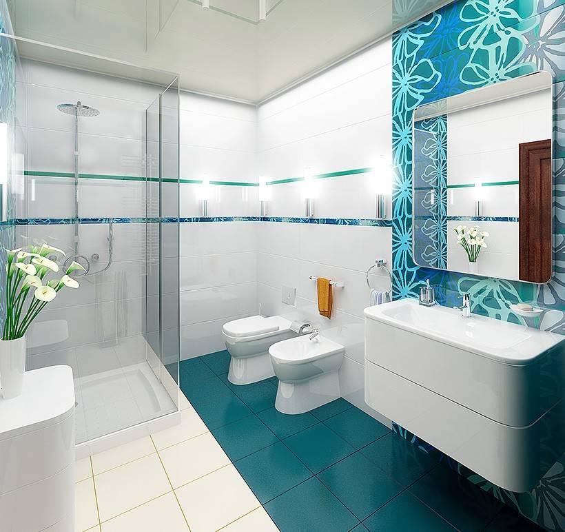 Ванная комната в морском стиле, фото интерьера, аксессуары