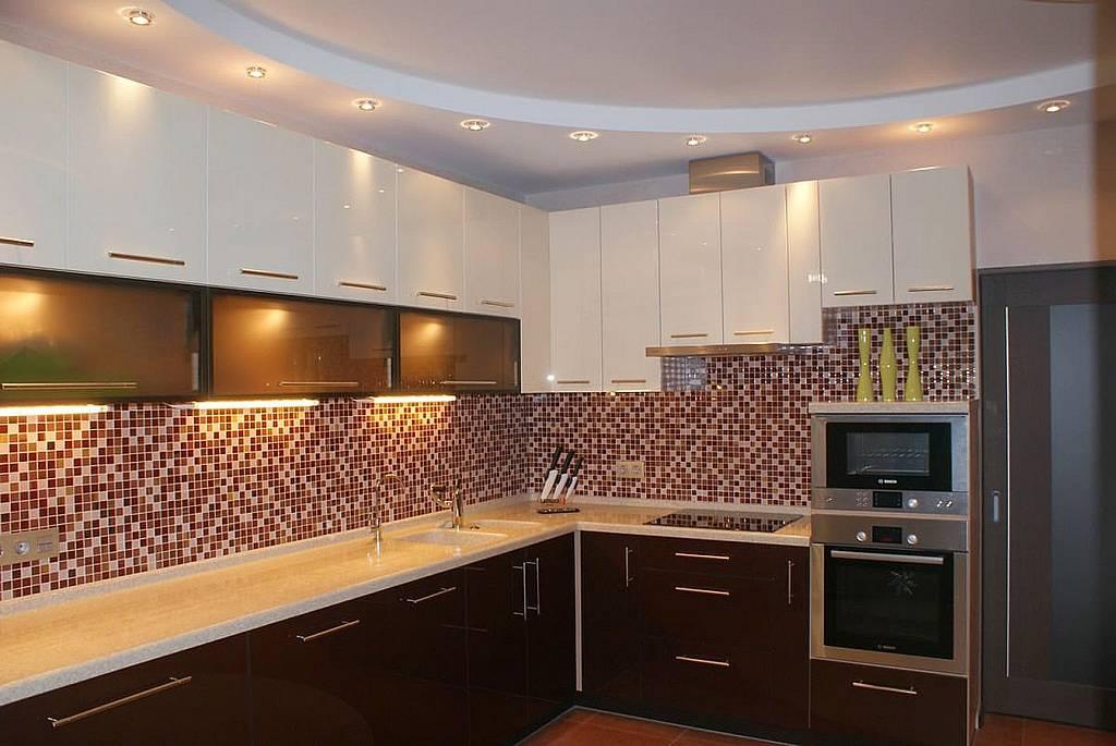 Дизайн потолка из гипсокартона на кухне (56 фото): подвесные потолки с коробом