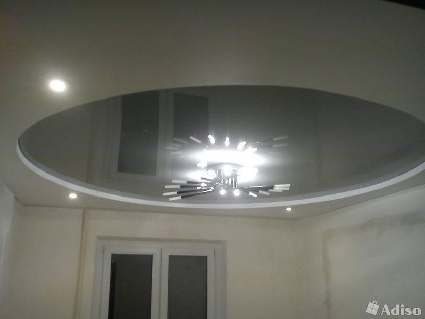 Двухуровневые потолки - натяжные и из гипсокартона, фото