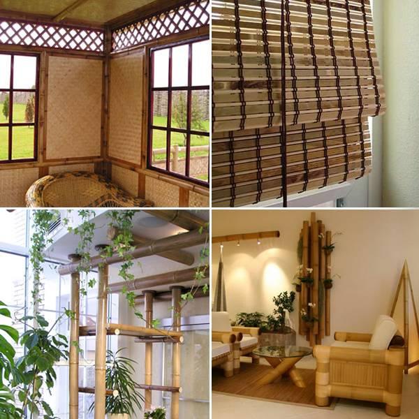 Бамбуковые обои в интерьере с фото