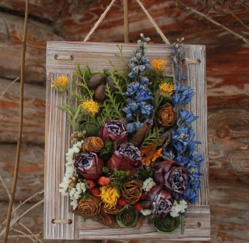 Композиции из сухоцветов своими руками: идеи букетов, советы, фото