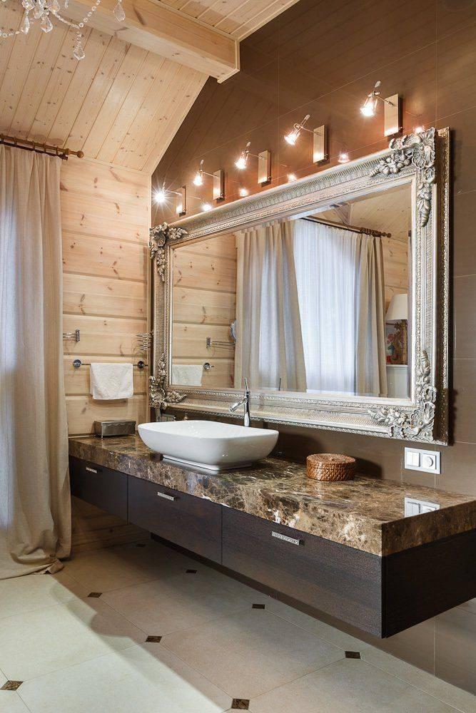 Ванные комнаты в деревянном доме
