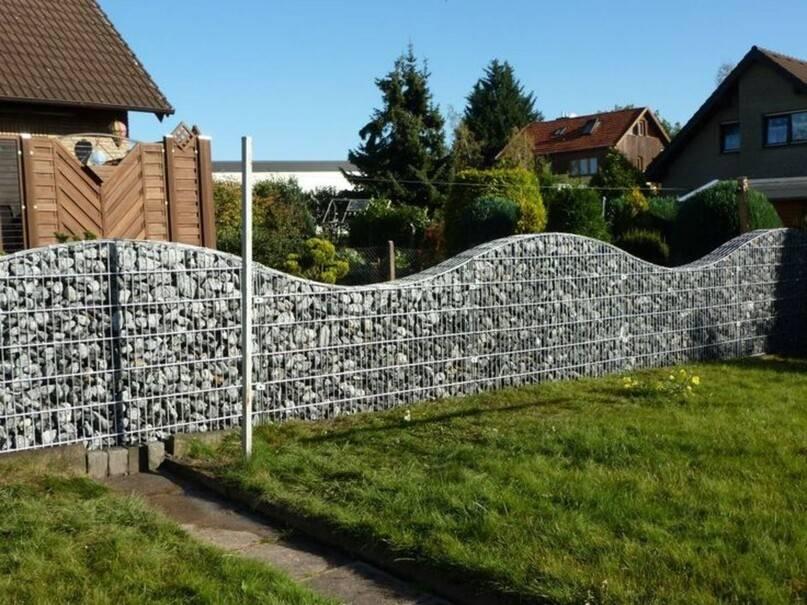 Забор из габионов своими руками - инструкции