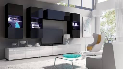 Белая стенка в гостиную: особенности, разновидности, выбор, примеры