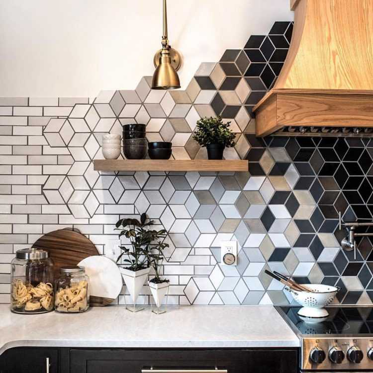Фартук для кухни из керамической плитки (48 реальных фото в интерьере)