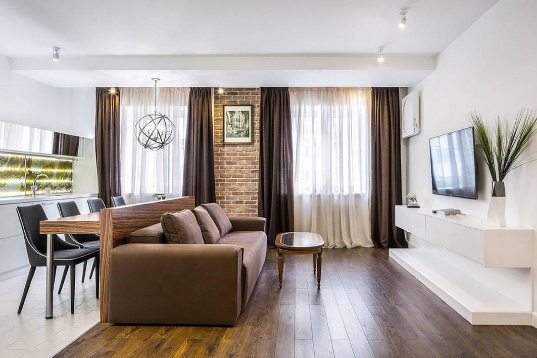 Дизайн гостиной-спальни площадью 20 кв. м  (59 фото): дизайн интерьера в одной комнате, современные идеи 2021