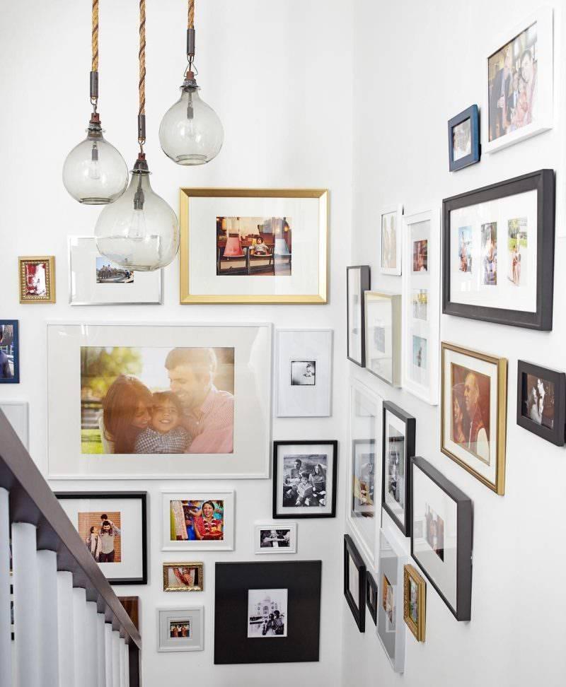 Рамки для фотографий на стену: идеи для размещения