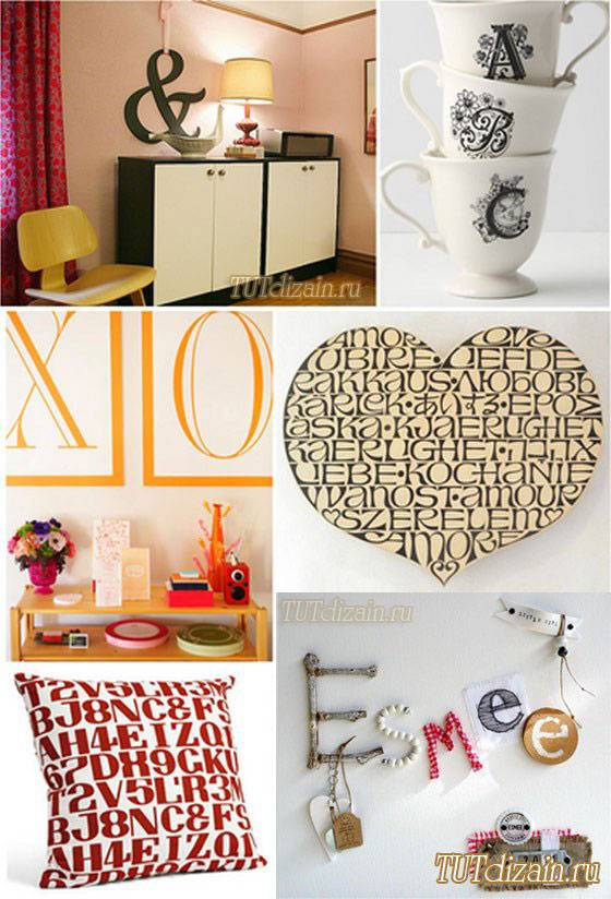 Декоративные буквы в интерьере +56 фото стильных примеров
