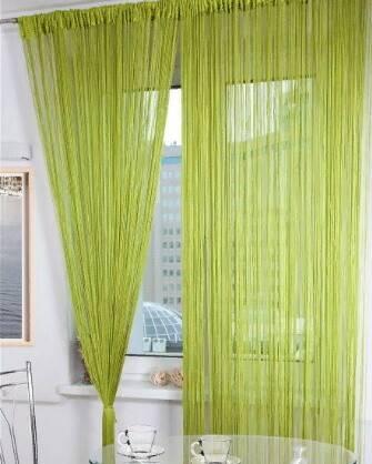 Дизайн нитяных штор на кухню (100 фото)